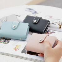 Women's Short Wallet PU Leather Folding Card Holder Money Purse Mini
