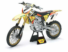 James Stewart SUZUKI RMZ450 new ray jouets Motocross 1,12 échelle moto