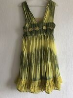 UK M PEACE & LOVE PRETTY YELLOW/GREEN DRESS PARTY/TOWIE/CELEB/GLAM/SUMMER/KYLIE