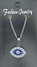 De 18 o 24 Pulgadas Fino Collar & Turcos Mal De Ojo Colgante Amuleto Ayn al-ḥasūd Nazar