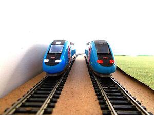 NEW éclairage inversé BLANC & ROUGE ANALOGIQUE POUR TGV OUIGO MEHANO neuf