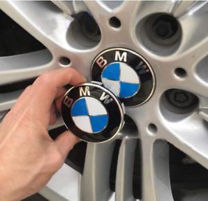 Set of 4 Covers Emblem Logo Fit For Badge Hub 4 Wheel Rim Center Caps 68mm