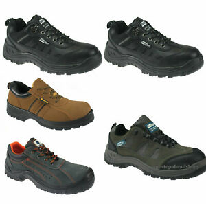 MENS GREY TOUGHGRIT STEEL TOE CAP SAFETY WORK ANKLE TRAINERS SHOES BOOTS SIZE