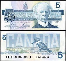 CANADA 5 DOLLARS CROW & BOUEY (P95a2) 1986 UNC