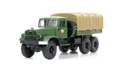 Nash Avtoprom 1:43 Russian truck KRAZ-214V ballast tractor dark green 1960