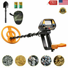 Metal Detector Disc Pinpoint Waterproof Gold Digger Hunter Deep Sensitive Shovel