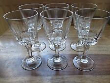 "SET OF 6  X  VINTAGE  CRISTAL D'ARQUES LEAD CRYSTAL WINE GLASSES  "" VERSAILLES """