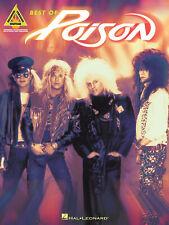 Best of Poison Guitar Tab Sheet Music Chords Lyrics Metal Rock 14 Songs Book New