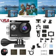 Dragon Touch Vision 4 Sports Action Camera 4K WIFI 16MP DV Camcorder Waterproof