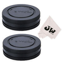 JJC 2 Sets Body Cap + Rear Lens Cap for Sony E Mount NEX Lens/Camera