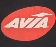 Vtg AVIA T Shirt RARE TEE Spellout LOGO Running Shoes SNEAKERS Basketball M/L