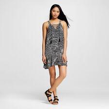 New Mossimo Women's Sleeveless Dress Black & White Print Size X-Small XS