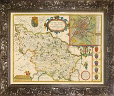 YORKSHIRE WEST RIDING 1610 by John Speed - reproduction old map