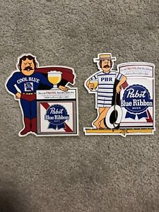 RARE Vintage Pabst Blue Ribbon beer Bumper Sticker PBR Collectible 1970s