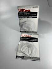 Lot Of 2-Wilson Single Density Youth Mouth Guards-Clear-Protect Teeth-Free Ship
