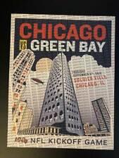 2019 Chicago Bears VS Green Bay Packers NFL Season Kickoff commemorative Poster