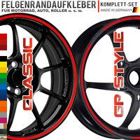 NEW! Felgenrandaufkleber Classic & GP Design STYLE Auto Motorrad Aufkleber