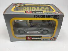 BBURAGO DIE CAST METAL MODEL W/ PLASTIC PARTS PORSCHE 959 TURBO 1:24 SCALE