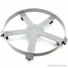 55 Gal Drum Dolly Swivel Casters Heavy Duty Steel Frame Non Tip 1250 Lbs 5 Wheel