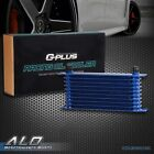 Fit For Universal 10 Row Aluminum Engine Transmission Oil Cooler Radiator Blue