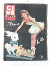 CINE-REVUE avril 1952 VERA ELLEN PAUL MEURISSE CHARLIE CHAPLIN FRANCOISE ARNOUL