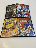 Sonic Heroes & Mega Collection Plus Game Lot Sony PlayStation 2 PS2 GH SEGA