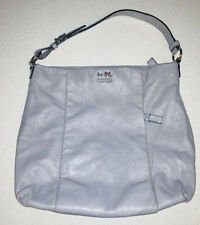 Coach Madison Isabelle Leather Gray Large Hobo Handbag Style # 21224