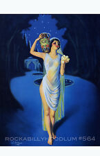 Pin Up Girl Poster 11x17 exotic flapper maiden dame art deco night flower
