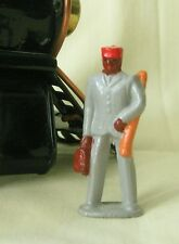 Redcap carrying luggage, O scale model train layout figure, Reproduction