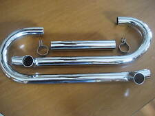 VINTAGE BMW R69-R69S NEW PAIR OF BEAUTIFUL CHROME EXHAUST HEADER PACKAGE