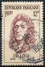 France 1956 SG#1308, 12f Famous Men, J.B. Lulli Used #E5908