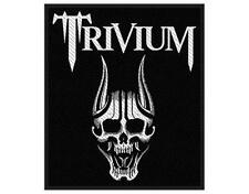 OFFICIAL LICENSED - TRIVIUM - SCREAMING SKULL WOVEN SEW-ON PATCH METAL THRASH