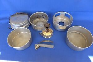 Vintage Primus Model # 71 Camp Stove w/ Edelweiss Nesting Cook Kit Swiss Made