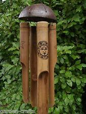 Celestial Sun and Moon Bamboo Windchime -Fair Trade & Handmade -45cm -FREE POST!