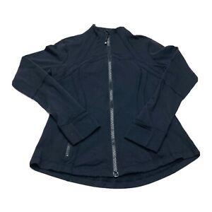 Lululemon Womens Define Jacket Size 12 Black Classic Thumbholes Cuffins