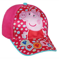 Peppa Pig baseball cap peaked fuchsia and pink printed sheen by bim