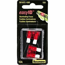 Bussmann BP/ATC-10ID easyID Illuminating Blade Fuse, (Pack of 2)