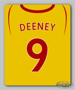 WATFORD themed MOUSEMAT mouse mat pad PERSONALISED football kit style