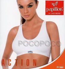 BRASSIERE SPORTIVA DONNA ACTION PREFORMATA MICROFIBRA PAPILLON ART. P1360