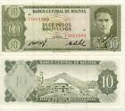 BOLIVIE BOLIVIA 10 BOLIVIANOS 1962 NEUF UNC