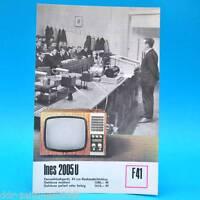 Fernsehtischgerät Ines 2005 U DDR 1970 47-Bildr.   Prospekt Werbung DEWAG F41 B