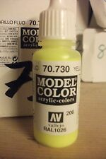 ACRYLIC MODEL PAINT 17ml VAL730  AV Vallejo Model Color - Fluorescent Yellow ART