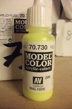 ACRILICO Modello PITTURA 17ml VAL730 AV Vallejo Colore - Giallo Fluorescente