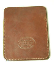 New Horween Gabarro Shell Cordovan Brown Leather Card/Coin Case  Free Shipping!