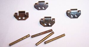 TRIANG HORNBY MINIC MOTORWAYS VEHICLE SPARES SUB FRAMES & RETAINING PINS
