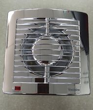 Vectaire AS10TCR CHROME Timer Bathroom Kitchen Shower Ceiling Extractor Fan 4""