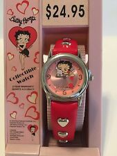 Betty Boop, RED Leather Watch. Quartz. New,box,warranty