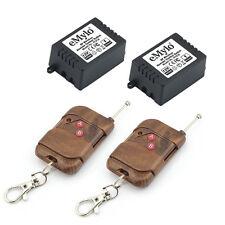RF 12V 2x1CH Relay Wireless Smart Remote Control Switch Kit 2 Transmitter 433MHz