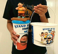 1set Doraemon Giant Stand by Me Movie Popcorn Bucket & Mugs Cup Theater Cinema