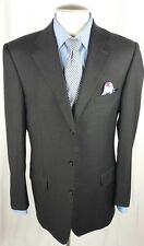 Ermenegildo Zegna blazer 42L Charcoal 3 button Pick Stitch Italy